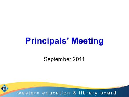 Principals' Meeting September 2011. Agenda CASS model of support 2011-2012 including: –Induction/EPD –Boards of Governors ESAGS: Count, Read, Succeed.
