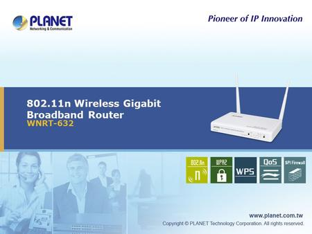 802.11n Wireless Gigabit Broadband Router WNRT-632 Icon5Icon4Icon3Icon2Icon1.