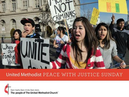 Peace with Justice Sunday calls for God's shalom. Peace with Justice Sunday, created by the 1988 General Conference, is one of The United Methodist Church's.