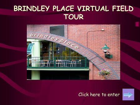 BRINDLEY PLACE VIRTUAL FIELD TOUR Click here to enter.