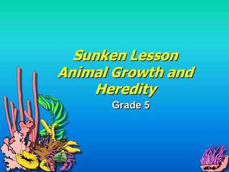 Sunken Lesson Animal Growth and Heredity Grade 5.