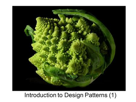 "Introduction to Design Patterns (1). Definition: "" In software engineering, a design pattern is a general reusable solution to a commonly occurring problem."