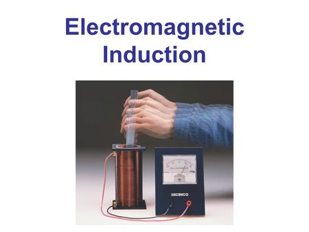 Electromagnetic Induction. Induced EMF Faraday's Law of Induction; Lenz's Law EMF Induced in a Moving Conductor Electric Generators Back EMF and Counter.