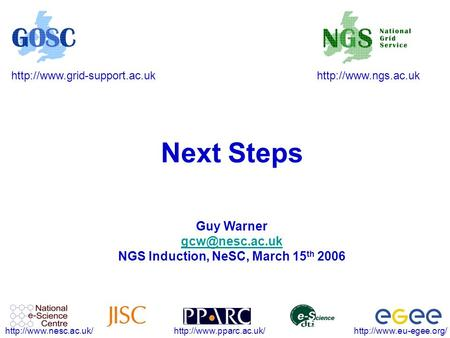 Next Steps Guy Warner