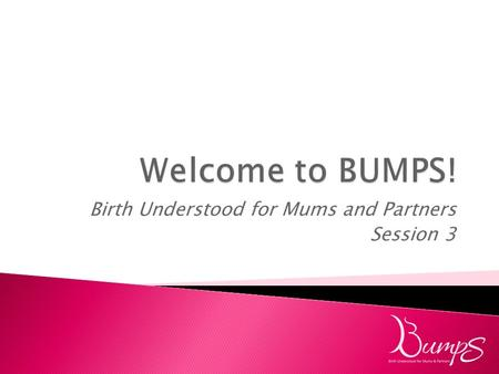 Birth Understood for Mums and Partners Session 3.
