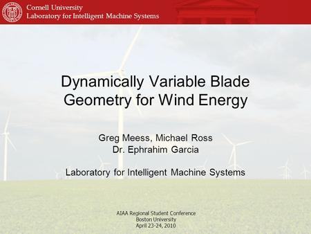Dynamically Variable Blade Geometry for Wind Energy