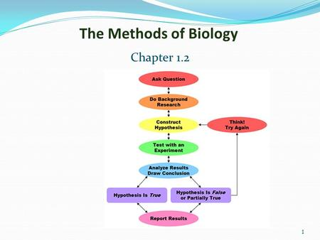 1 The Methods of Biology Chapter 1.2. 2 Scientific Methods.