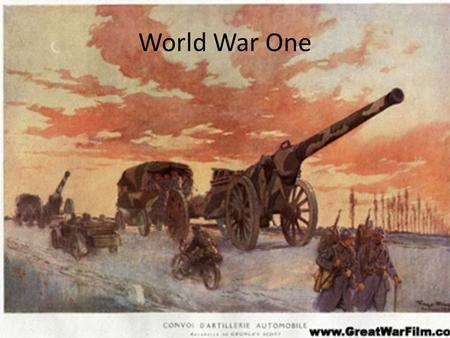 World War One. WWI In Europe Page 273 Sources of tension in Europe 1.Militarism- building up of military power to prepare for war. 2.Imperialism- strong.