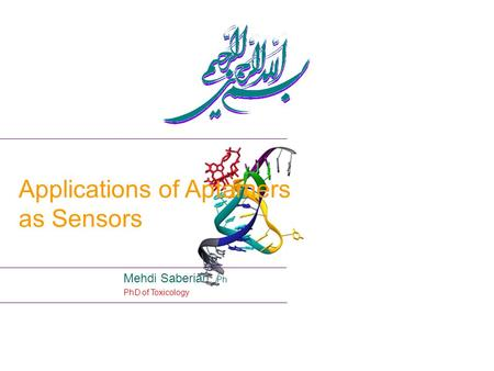 Applications of Aptamers as Sensors