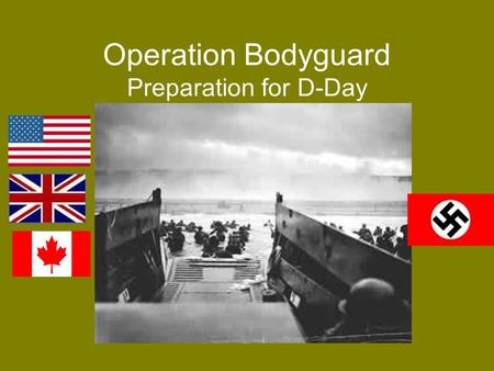 Operation Bodyguard Preparation for D-Day. WWII Review France falls to the Nazis 1940 Allies take North Africa in 1943 Allies take control of Italy it.