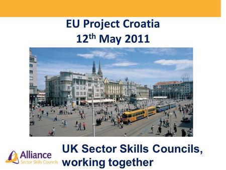 EU Project Croatia 12 th May 2011 UK Sector Skills Councils, working together.