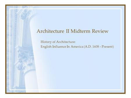 us history ii midterm review View notes - history ii midterm reviewdocx from history 2325 at university of texas–pan american history ii midterm review term identification black codes laws.