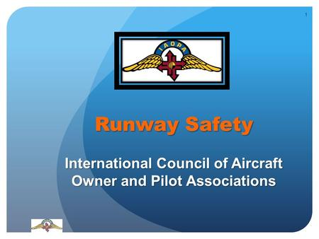 Runway Safety International Council of Aircraft Owner and Pilot Associations 1.