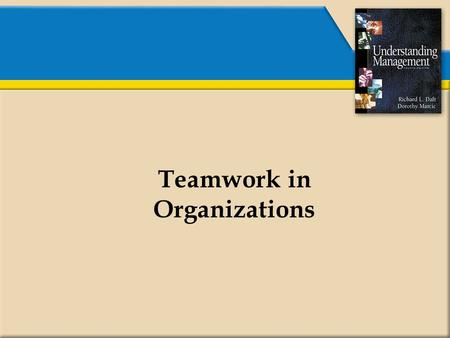 Teamwork in Organizations. What is a Team?  A unit of two or more people.  Members interacting and coordinating their work.  Members accomplishing.