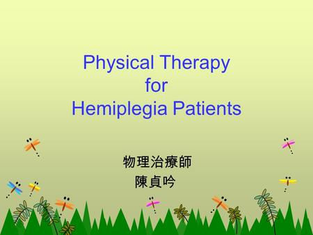 Physical Therapy for Hemiplegia Patients