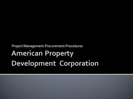 American Property Development Corporation