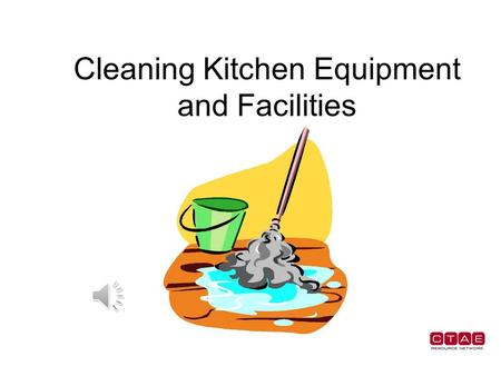 Cleaning Kitchen Equipment and Facilities Soap or Detergent Kitchen equipment as well as kitchen counters and surfaces can by washed with soap and water.