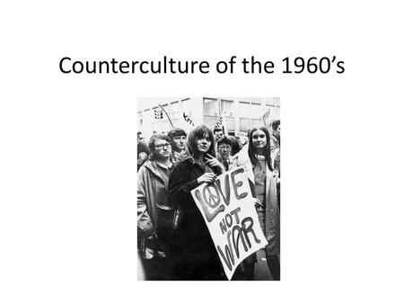 an overview of the politics and culture of the 1960s hippie movement Hippie: hippie, member of a countercultural movement during the 1960s and '70s that rejected the mores of mainstream american life.