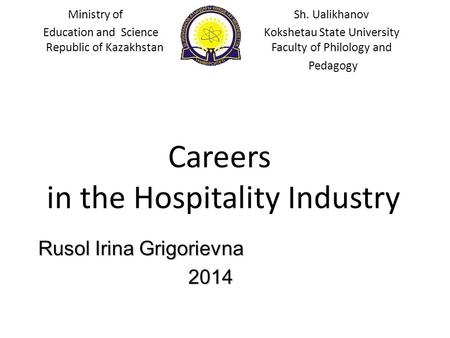 in the Hospitality Industry