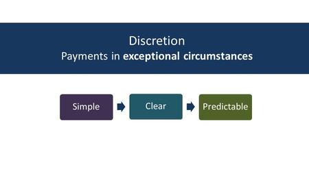 Discretion Payments in exceptional circumstances SimpleClearPredictable.
