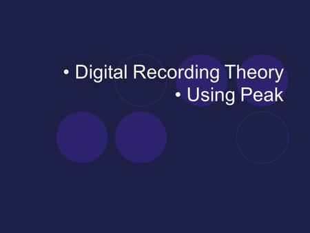 "Digital Recording Theory Using Peak. Listening James Tenney, Collage #1 (""Blue Suede""), 1961.  Available in Bracken Library, on James Tenney Selected."