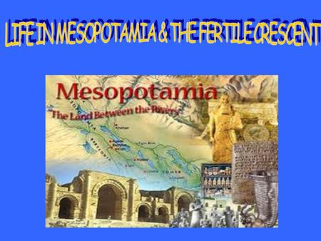 "The rich land between the Tigris and Euphrates Rivers supported many farming villages. In the region called Mesopotamia, which meant ""the land between."