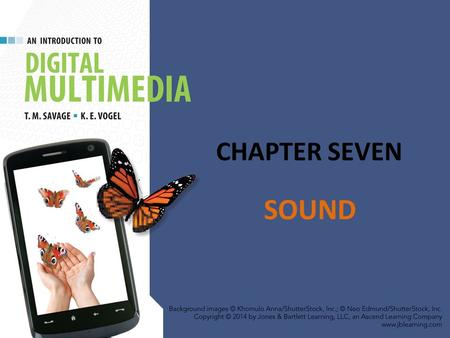 CHAPTER SEVEN SOUND. CHAPTER HIGHLIGHTS Nature of sound – Sine waves, amplitude, frequency Traditional sound reproduction Digital sound – Sampled – Synthesized.