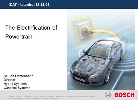 The Electrification of Powertrain