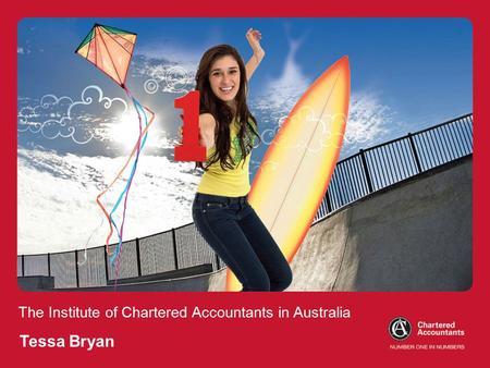 The Institute of Chartered Accountants in Australia Tessa Bryan.