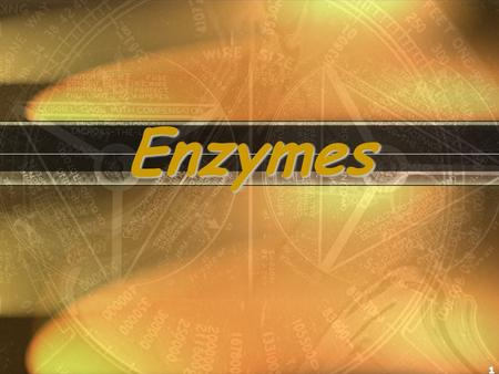 1 Enzymes Why Are Enzymes So Important? Why are we devoting one whole lecture topic to a protein molecule? – All chemical reactions in living organisms.
