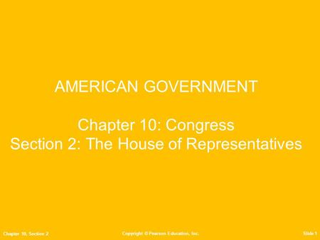 Objectives Explain how House seats are distributed and describe the length of a term in the House. Explain how House seats reapportioned among the States.
