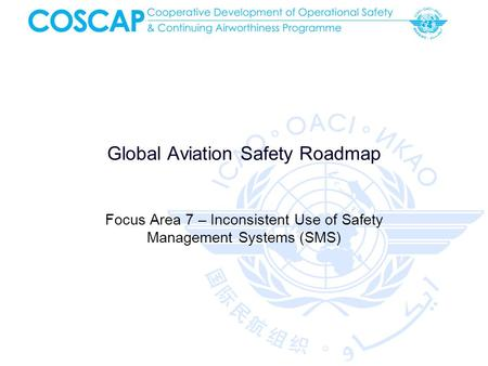 Global Aviation Safety Roadmap Focus Area 7 – Inconsistent Use of Safety Management Systems (SMS)