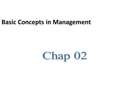 Basic Concepts in Management. Manager Someone who coordinates and oversee the work of other people so that organizational goal can be achieved.
