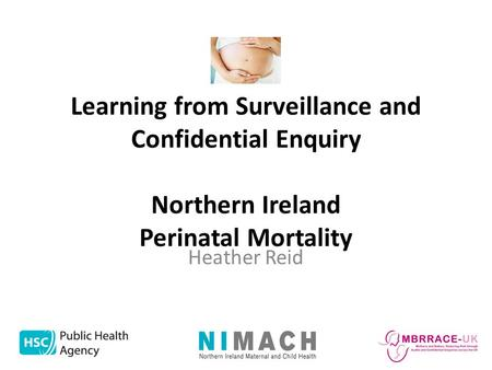 Learning from Surveillance and Confidential Enquiry Northern Ireland Perinatal Mortality Heather Reid.