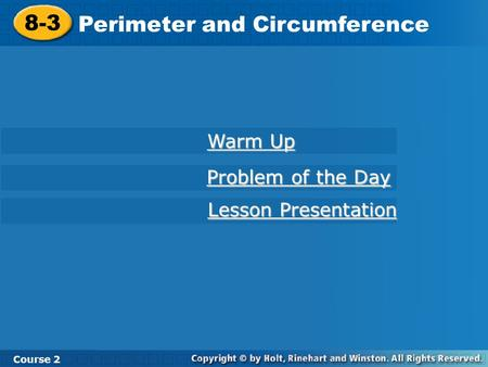 Perimeter and Circumference