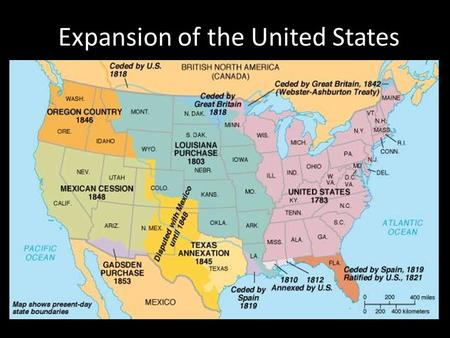 Expansion Of The United States Ppt Video Online Download - Map of us in 1776