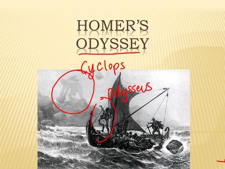  A Greek poet whose most famous works are the Iliad and the Odyssey  He probably wrote these works during the 1100's BC  The life of Homer is a mystery.