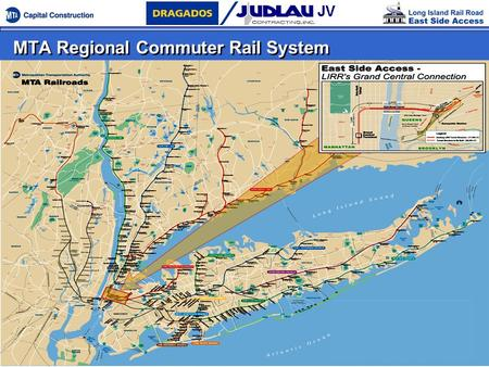 MTA Regional Commuter Rail System. Bringing the LIRR to Grand Central Terminal (GCT) - Route Map.
