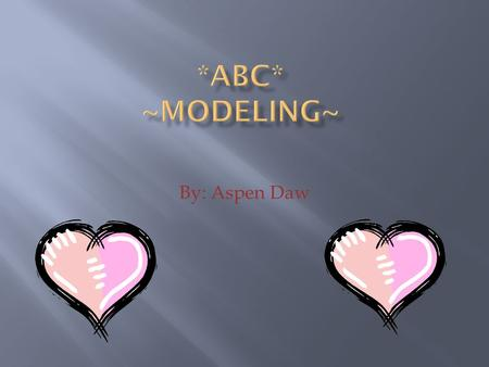 By: Aspen Daw. Models pose for artists and photographers.