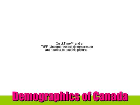 Demographics of Canada