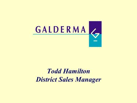 Todd Hamilton District Sales Manager. Innovation  On average it takes scientists, physicians, engineers, and other researchers between 10 and 15 years.