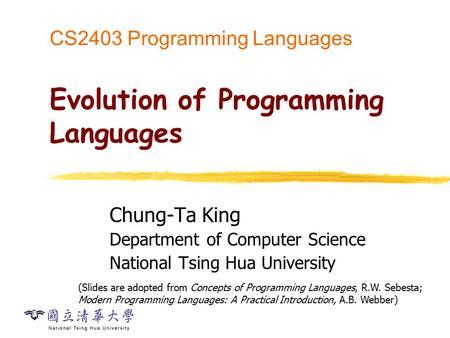 History of programming languages