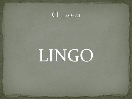 LINGO. all of the individuals of one species occupying a particular area.