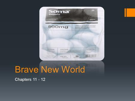 Brave New World Chapters 11 - 12. Poor DHC!  He resigns in shame.  We also experience the irony of Linda's name and of her desire to return to the World.