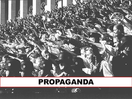 PROPAGANDA. Propaganda What is Propaganda? Created to shape public opinion and behavior Advertises a cause, organization, or movement Simplifies complex.