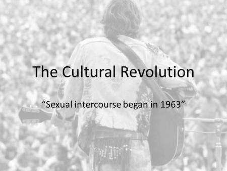 the cultural revolution begins
