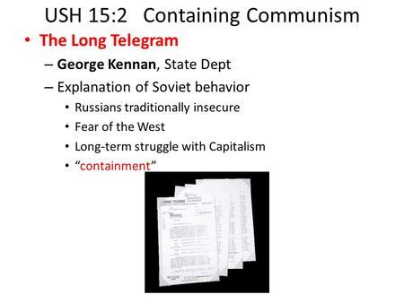 USH 15:2 Containing Communism