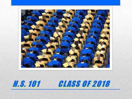 H.S. 101 CLASS OF 2018. TODAY'S GOALS  Introduce you to RHS  Share information to help you be successful  Classes, Expectation and Graduation Requirements.