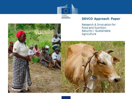 DEVCO Approach Paper Research & Innovation for Food and Nutrition Security / Sustainable Agriculture.