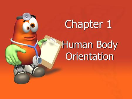 Chapter 1 Human Body Orientation. Anatomy Study of the structure and shape of the body and body parts and their relationship to one another Gross Anatomy.